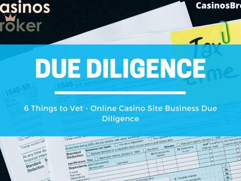 online casino site business due diligence